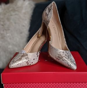 NWT metallic snakeskin pump